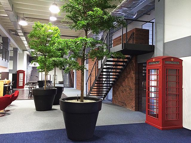 Alza - Rozhodli jsme se nastěhovat se do staré továrny, kde jsme si mohli vybudovat doslova co jsme chtěli. Srdcem prostor je AlzaCafé, kavárna, jakou znají naši zákazníci z Holešovic, ale tato je lemována pětimetrovými živými stromy a je pouze pro zaměstnance a návštěvy. V prostorách sice máme i 11 jednacích místností, učebnu či kouty pro sezení, avšak během pár týdnů jsme zjistili, že nám nejvíce vyhovuje jednat v samotném AlzaCafé, kde si kdykoli můžeme dát čerstvý džus, vynikající kávu, horkou čokoládu či nějaký zákusek. Z volnočasových aktivit tu máme šipky, kulečník, fotbálek, ping-pong či stůl na poker, zaměstnanci si mohou i vyšplhat na šestimetrový boulder, zacvičit v malém fitku, zajít si do sauny či nabrat síly do plnohodnotné solné jeskyně.