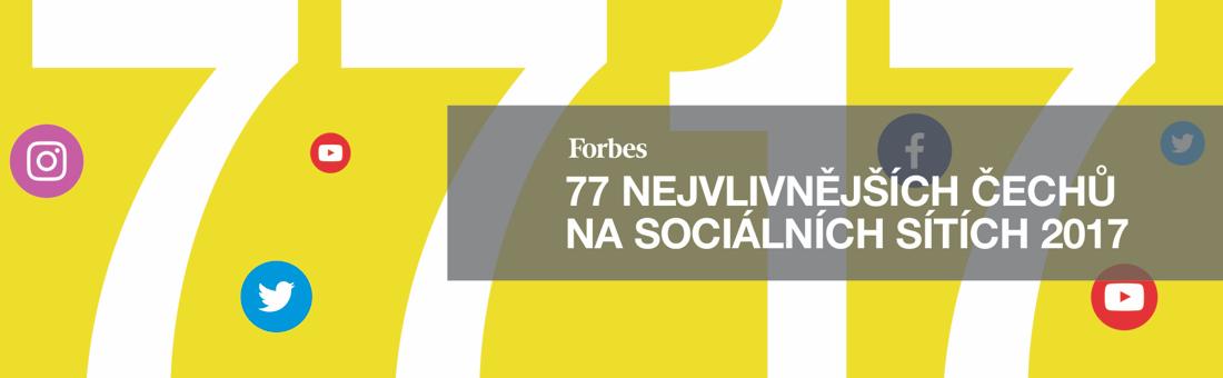 77 nejvlivnějších Čechů na sociálních sítích 2017