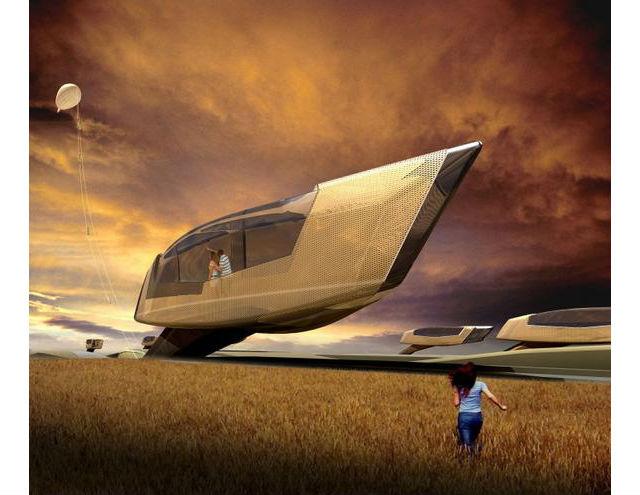 Tornado-Proof Home - Jak vyplývá z názvu, tyto domy mají vydržet i tornádo. Vymyslel je Ted Givens a lidé z hongkongského studia 10Design.