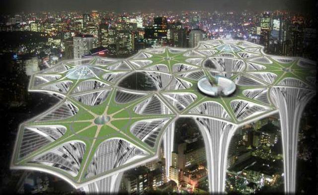 Sky Terra Towers  - Jak žít nad městem a přitom v zeleni. Návrh designérky Joanny Borek-Clement ze San Fransisca.