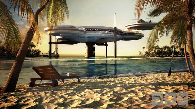 Water Discus Hotels - Návrh specialistů na vodní stavby z polského Deep Ocean Technology plní sen snad každého milovníka moře. Je libo rovnou z postele koukat třeba na delfíny?