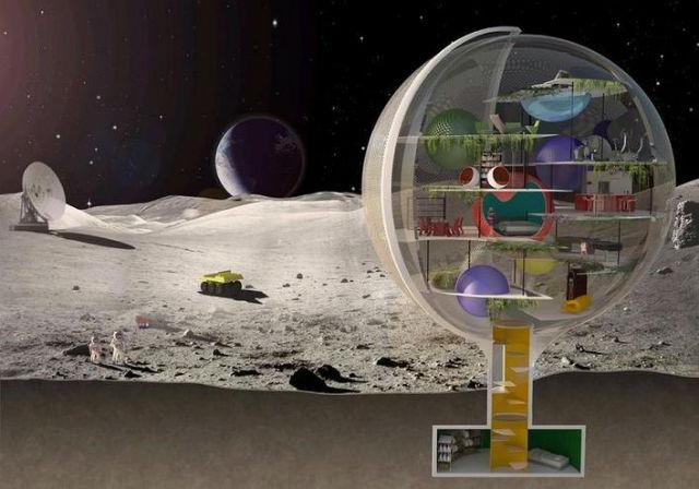 Moon Villa - Komfortní bydlení pro první obyvatele Měsíce navrhli architekti z nizozemského studia Royal Haskoning Architechten.