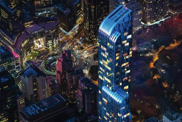 10. One57, celé 84. patro, New York Cena: $55,6 mil. (1,3 mld. Kč) Prodávající: Extell Development Kupující neznámý