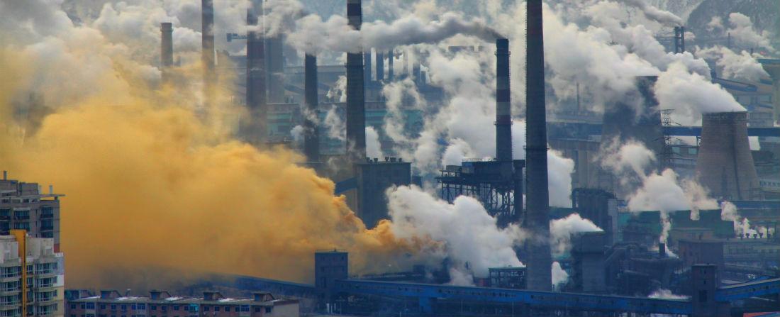čína znečištění done