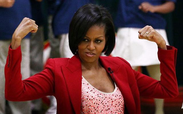 10. Michelle Obama, první dáma, USA, 51 let,vdaná,2 děti