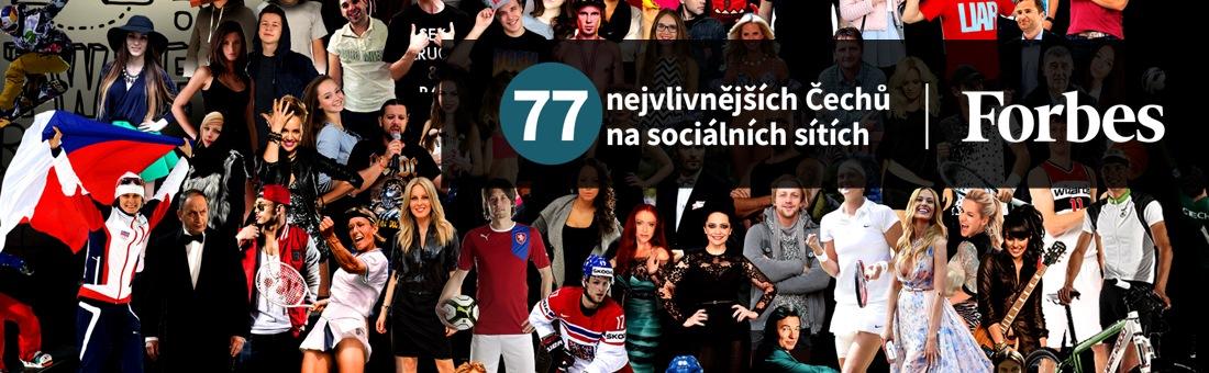 77 nejvlivnějších Čechů na sociálních sítích 2015