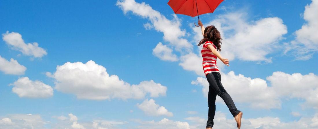 létat štěstí žena