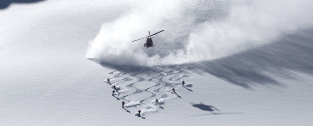 Helicopter & Skier