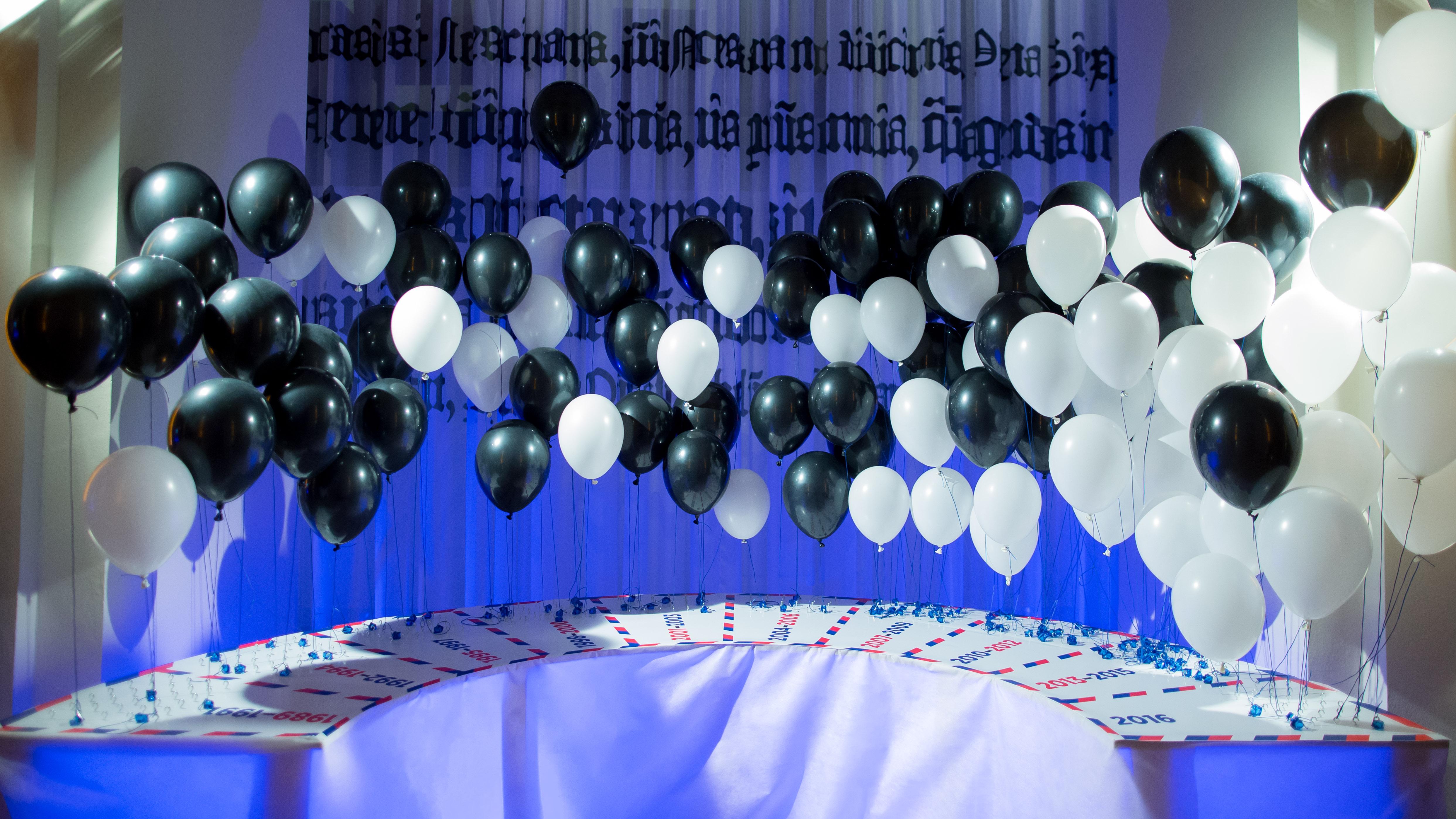 Umístěné balónky
