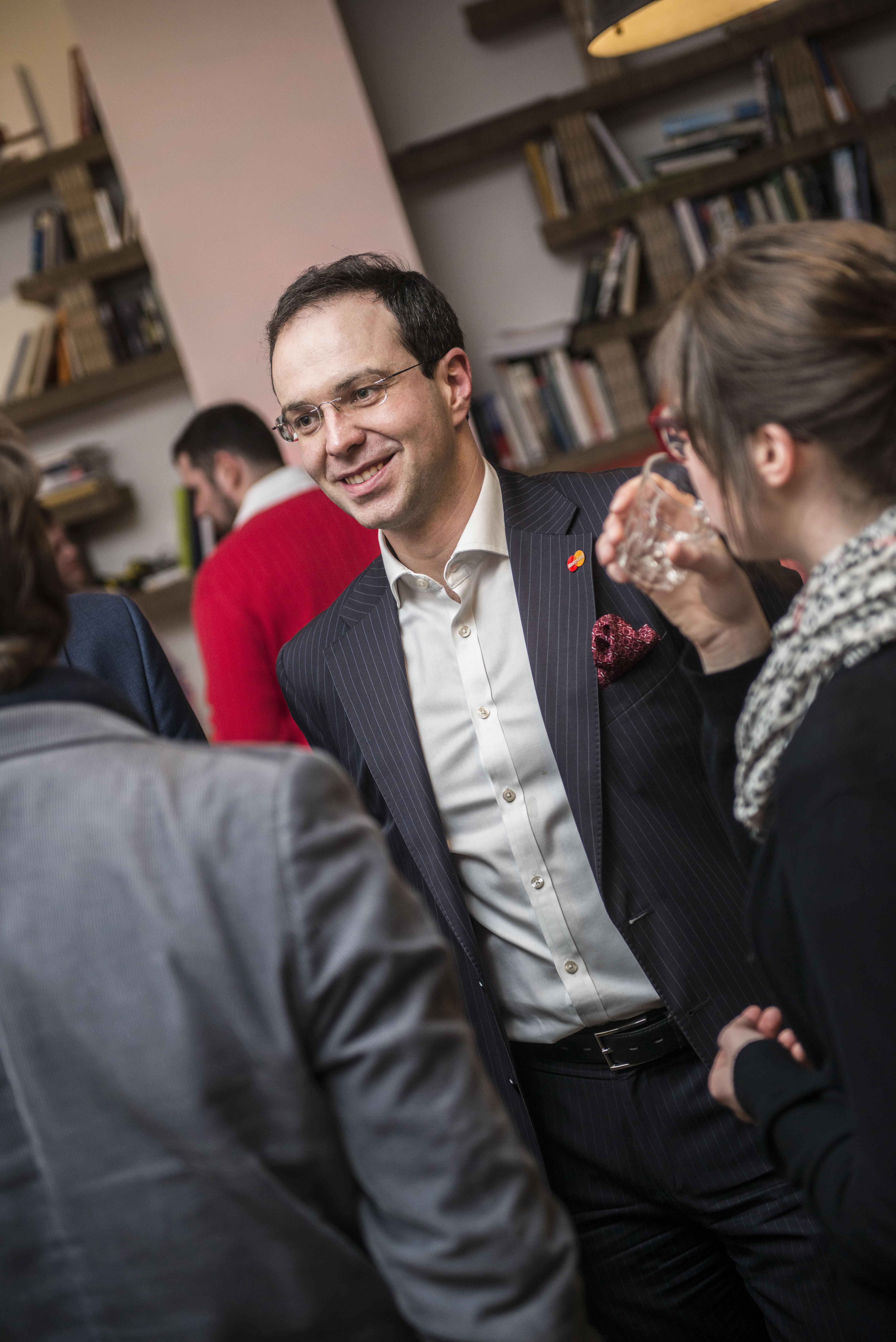Miroslav Lukeš při networkingu