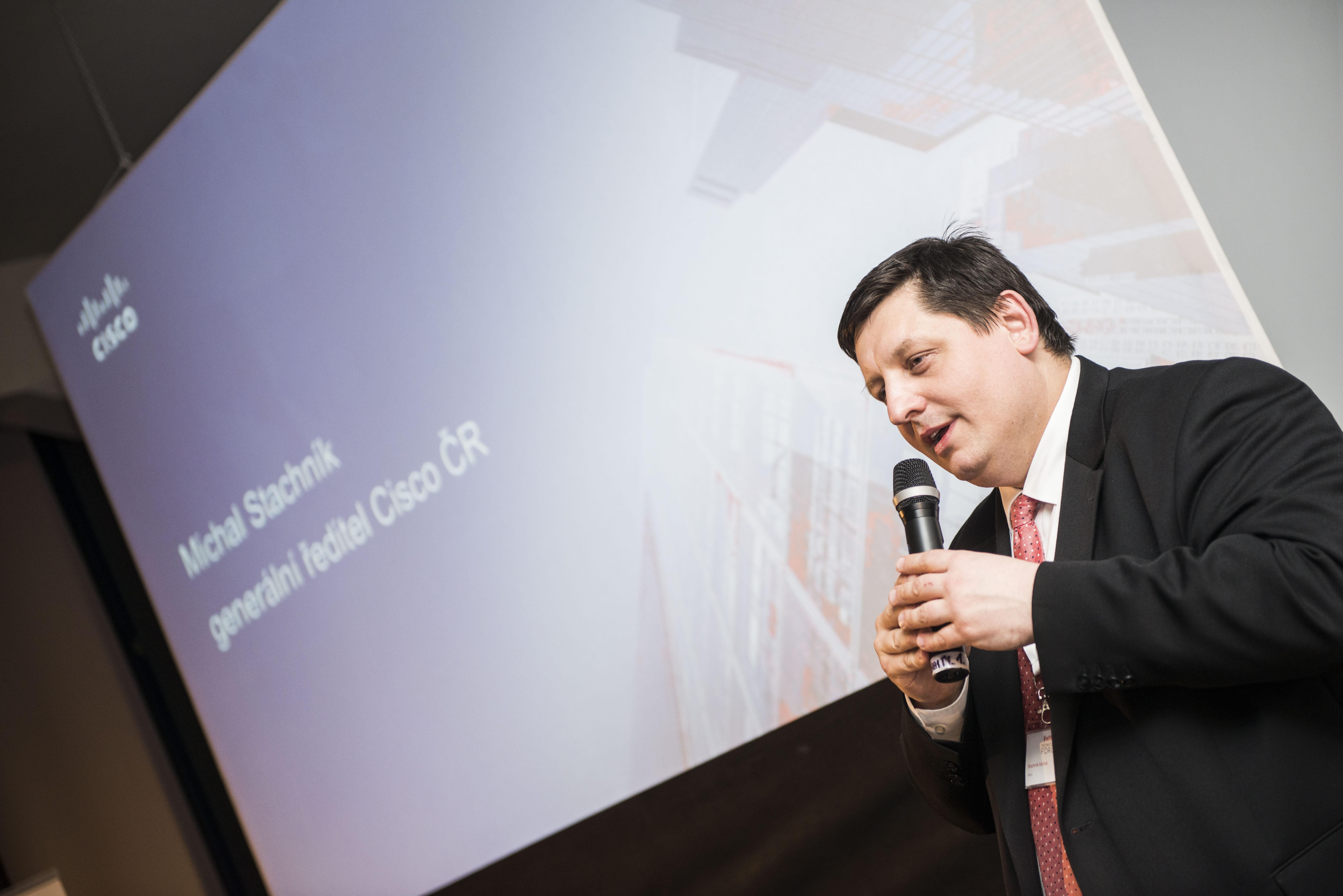 Keynote obstaral Michal Stachník, generální ředitel společnosti Cisco ČR