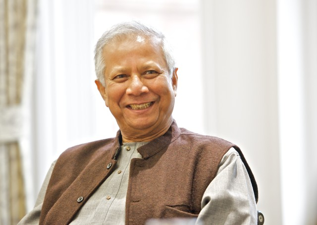 Professor Muhammad Yunus, Nobel Peace Prize winner visiting the