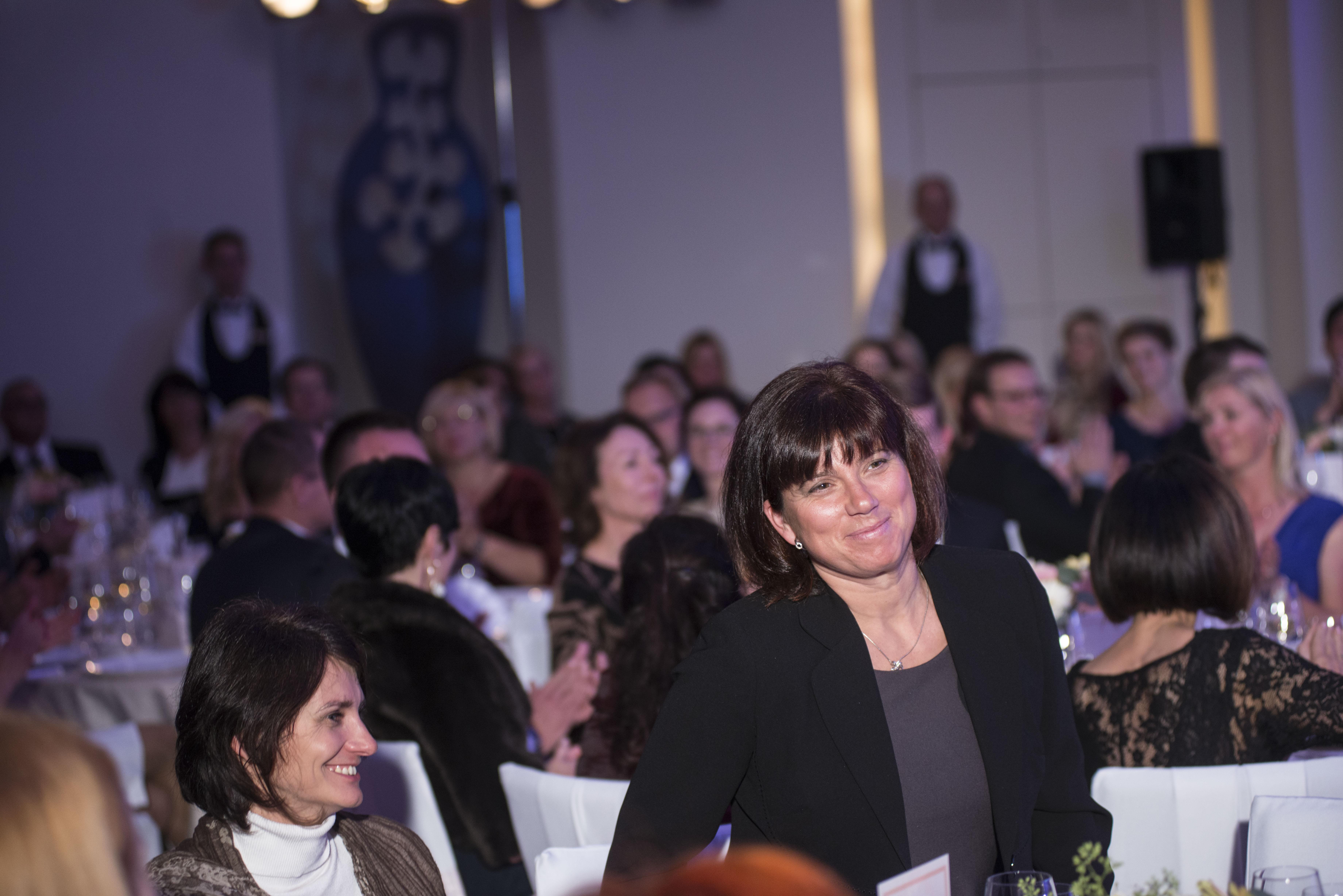 Alena Jakubíčková, která zastupovala dalšího partnera večera – Südtirol