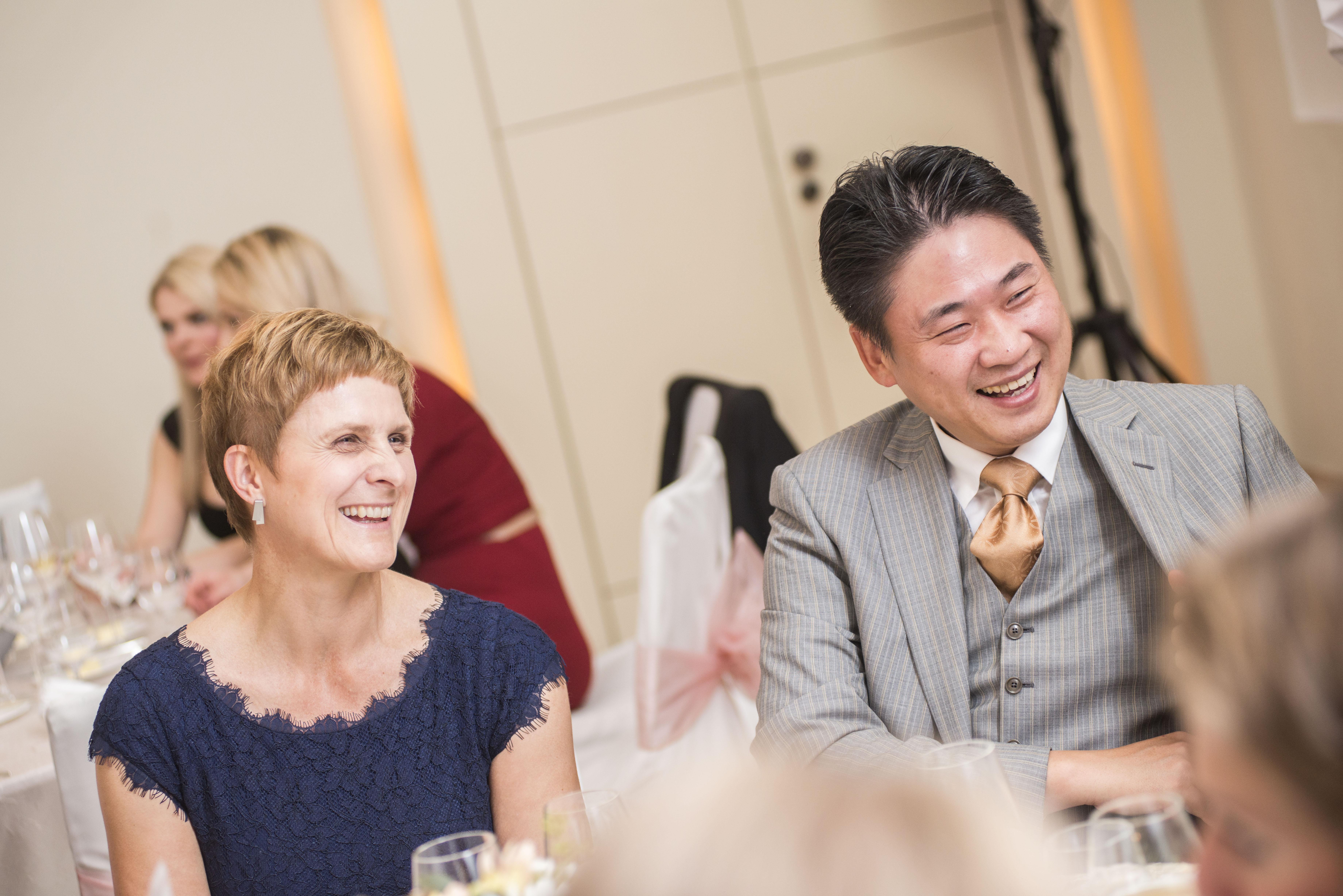 Zástupci společnosti Samsung, partnera večera, Jana Reibová a Hun Lee