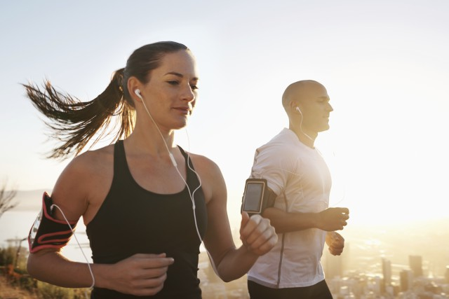 Getting fit with music as their inspiration