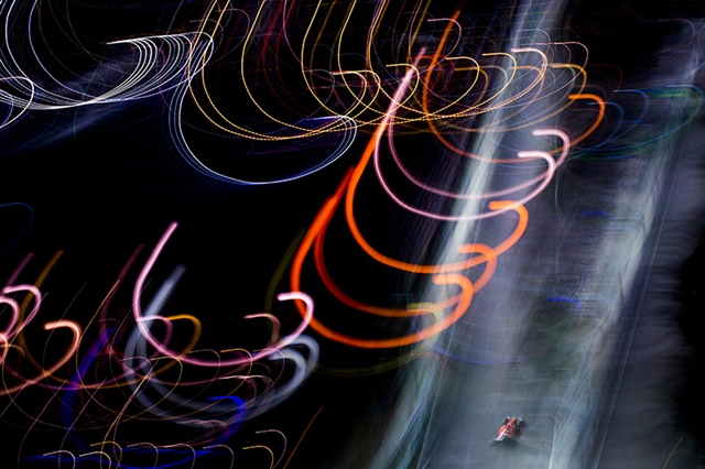 Kimi Raikkonen of Finland and Scuderia Ferrari drives his SF15-T during qualifying for the Singapore Formula One Grand Prix at Marina Bay Circuit on September 19, 2015 in Singapore, Singapore. (Photograph by Vladimir Rys)