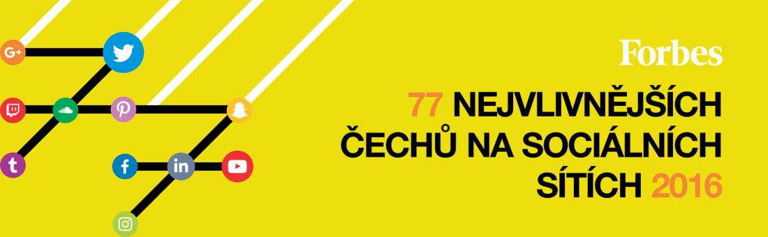 77 nejvlivnějších Čechů na sociálních sítích 2016
