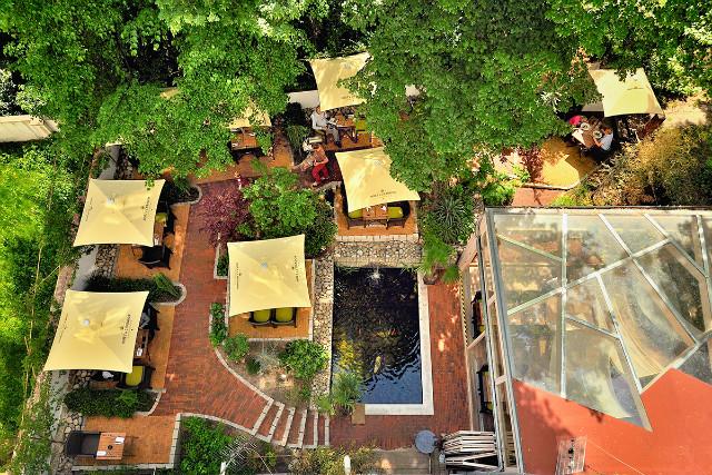 Zelená Zahrada - pohled z balkonu