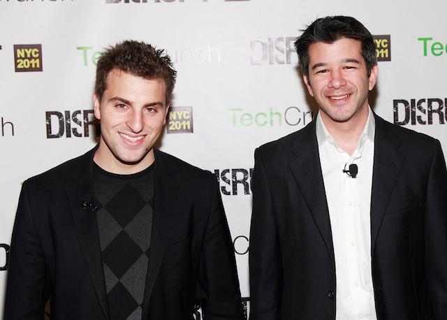 Brian Chesky z Airbnb a Travis Kalanick z Uberu